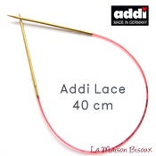 Image of Addi Lace 40 cm - Agujas circulares fijas / Fixed knitting needles / Aiguilles circulaires fixes