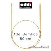 Image of Addi Bamboo 80 cm - Agujas circulares fijas / Fixed knitting needles / Aiguilles circulaires fixes