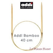 Image of Addi Bamboo 40 cm - Agujas circulares fijas / Fixed knitting needles / Aiguilles circulaires fixes