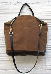 Image of REVERSIBLE BAG *gold/tan & wide stripe*