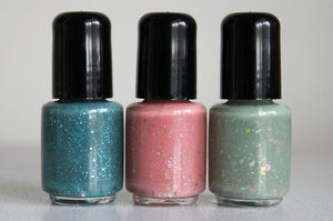 Image of Mini glitter polish - Spring Collection trio