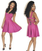Image of Contemporary Magenta Cut-Out Skater Dress