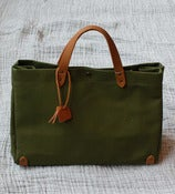 Image of Army Green Cotton Tote