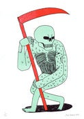 Image of Death With Scythe - A4 Risograph Print