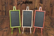 Image of Tall Chalkboard on Easel Stand- THREE Color Choices - Red, Green &amp; White/Cream