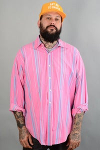 Image of RL Polo Pink Striped L/S
