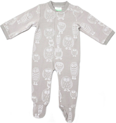 Image of Organic Romper - Owl, Grey
