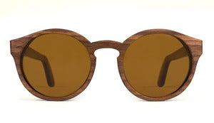 Morgan Walnut Wooden Sunglasses Handmade in California by Capital Eyewear