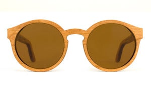 Morgan Cherry Wooden Sunglasses Handmade in California by Capital Eyewear