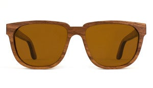Bonnie / Clyde Walnut Wooden Sunglasses Handmade in California by Capital Eyewear