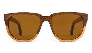 Bonnie / Clyde Two-Tone Cherry Wooden Sunglasses Handmade in California by Capital Eyewear