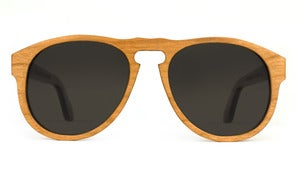 Harris Cherry Wooden Sunglasses Handmade in California by Capital Eyewear