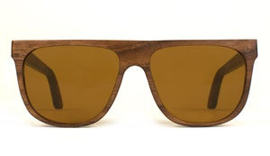 Alex Walnut Wooden Sunglasses Handmade in California by Capital Eyewear
