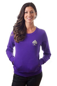 Image of Women's Purple Simple Simon Crew