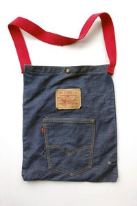 Image of Vintage 1970's Levi's Big E Tote &quot;Bike&quot; Bag, San Francisco