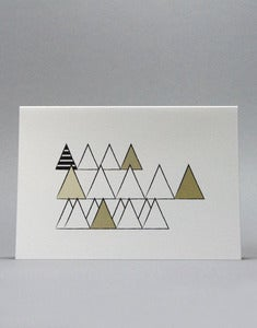 Image of Beige Wooded Hills Triangles