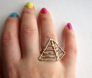 Image of Brass Pyramid Ring