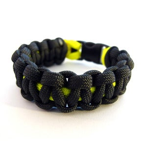 Image of Survival paracord bracelet (Charcoal/Yellow)