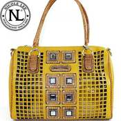 Image of Yellow Nicole Lee Gemstone Bag 