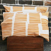 Image of pair of boardwalk pumpkin workingcloth pillowslips