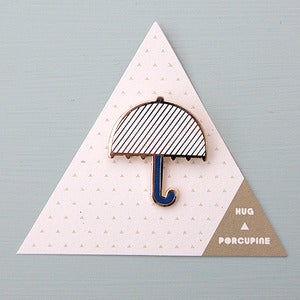 Image of Umbrella Brooch by Hug A Porcupine