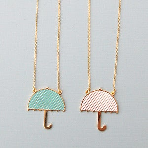 Image of Umbrella Necklace by Hug A Porcupine