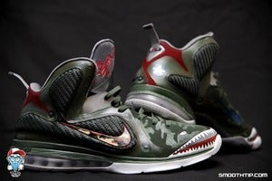 Image of &quot;Curtiss P-40 Warhawk&quot; Lebron 9 (Shoes Included)