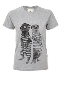 Image of Brat and suzie meerkat tshirt