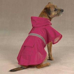 Image of Guardian Gear Brite Dog Rain Jacket - Raspberry