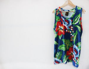 Image of CUSTOM RALPH LAUREN HAWAIIAN PRINT TANK TOP