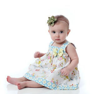 Image of Square Neck Top and Dress Pattern for Baby - 0 to 24 months