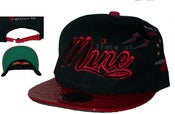 Image of Zoo Life Faux Croc Skin Bk/Rd. Strap Back Hat Joe Rocken Exclusive