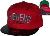 "Image of The ""High End Habits"" Cracked Leather Snapback Hat Joe Rocken Custom Design"
