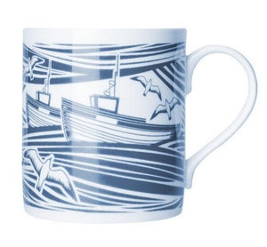 Image of Whitby Bone China Mug - Indigo