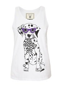 Image of Brat and suzie dip hem Dalmatian vest