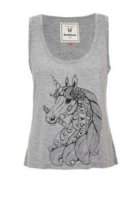 Image of Brat and suzie unicorn vest grey