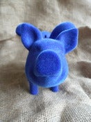 Blue but not rude Flocked Flying Pig