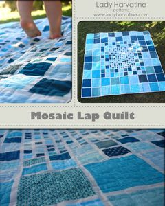 Image of Mosaic Lap Quilt PDF Pattern