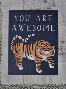 Image of Awesome Tiger Notecard