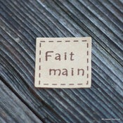 "Image of Stickers ""Fait main"" par 6"