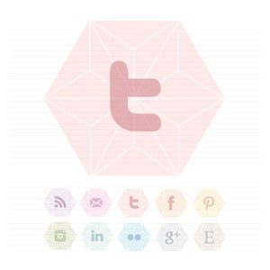 Image of Geometric Social Buttons