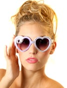 Image of Lolita Crystal Heart Sunglasses