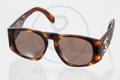 Image of Chanel 01450 Brown Quilted:: Vintage Sunglasses