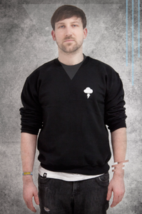 Image of EMBROIDERED CREW - BLACK