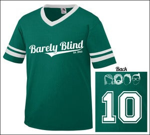 Image of Limited Edition 10 Year Anniversary Baseball Tee Dark Green/White
