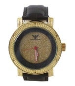 Image of Gold/Black Overlay Diamond King Iced Out Watch w/Extra Band