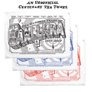 Image of A Canberra Centenary Tea Towel