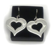 Image of STERLING SILVER HEART EARRINGS