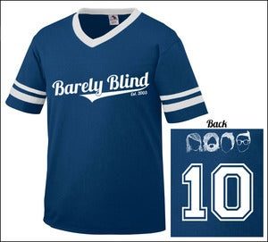 Image of Limited Edition 10 Year Anniversary Baseball Tee Navy/White