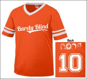 Image of Limited Edition 10 Year Anniversary Baseball Tee Orange/White